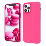 Чехол Yotrix LiquidSilicone для Apple iPhone 12/12 pro (ярко-розовый, гелевый)