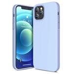 Чехол Yotrix LiquidSilicone для Apple iPhone 12 pro max (голубой, гелевый)