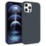 Чехол Yotrix LiquidSilicone для Apple iPhone 12/12 pro (темно-серый, гелевый)