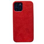 Чехол Yotrix Alcantara Case для Apple iPhone 12 pro max (красный, алькантара)