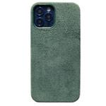 Чехол Yotrix Alcantara Case для Apple iPhone 12 pro max (темно-зеленый, алькантара)