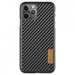 Чехол G-Case Dark Series для Apple iPhone 12 pro max (Carbon Fiber, кожаный)