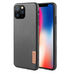 Чехол G-Case Dark Series для Apple iPhone 12/12 pro (Black Leather, кожаный)