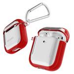Чехол X-Doria Defense Clear для Apple AirPods (красный, гелевый/пластиковый)