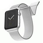 Ремешок для часов X-Doria Mesh Double Band для Apple Watch (38/40 мм, серебристый, стальной)