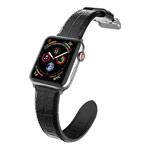 Ремешок для часов X-Doria Hybrid Leather Croco Band для Apple Watch (38/40 мм, черный, кожаный)