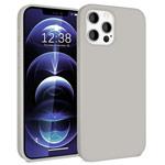 Чехол Yotrix LiquidSilicone для Apple iPhone 12/12 pro (светло-серый, гелевый)