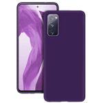 Чехол Yotrix LiquidSilicone для Samsung Galaxy S20 FE (фиолетовый, гелевый)