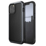 Чехол Raptic Defense Lux для Apple iPhone 12 pro max (Black Carbon, маталлический)