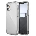 Чехол Raptic Air для Apple iPhone 12 mini (прозрачный/серебристый, маталлический)