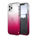 Чехол Raptic Air для Apple iPhone 12 pro max (прозрачный/розовый, маталлический)