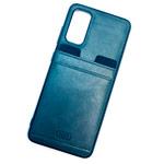 Чехол HDD Luxury Card Slot Case для Samsung Galaxy S20 FE (темно-синий, кожаный)