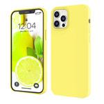 Чехол Yotrix LiquidSilicone для Apple iPhone 12 pro max (лимонный, гелевый)