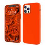 Чехол Yotrix LiquidSilicone для Apple iPhone 12/12 pro (ярко-оранжевый, гелевый)