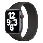 Ремешок для часов Yotrix Solo Loop для Apple Watch 38/40 мм (черный, силиконовый)