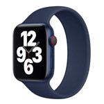 Ремешок для часов Yotrix Solo Loop для Apple Watch 38/40 мм (темно-синий, силиконовый)