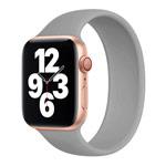 Ремешок для часов Yotrix Solo Loop для Apple Watch 38/40 мм (серый, силиконовый)