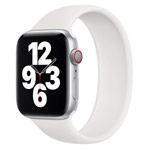 Ремешок для часов Yotrix Solo Loop для Apple Watch 38/40 мм (белый, силиконовый)