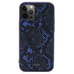 Чехол Kajsa Dale Glamorous Snake 2 для Apple iPhone 12 pro max (темно-синий, кожаный)