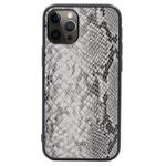 Чехол Kajsa Dale Glamorous Snake 2 для Apple iPhone 12 pro max (серый, кожаный)