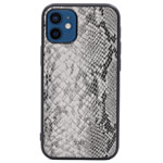 Чехол Kajsa Dale Glamorous Snake 2 для Apple iPhone 12 mini (серый, кожаный)