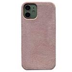 Чехол Yotrix Alcantara Case для Apple iPhone 12 mini (розовый, алькантара)