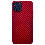 Чехол Coblue Carbon Case для Apple iPhone 12/12 pro (красный, пластиковый)