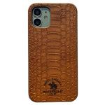 Чехол Santa Barbara Knight для Apple iPhone 12 mini (коричневый, кожаный)