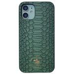 Чехол Santa Barbara Knight для Apple iPhone 12 mini (темно-зеленый, кожаный)
