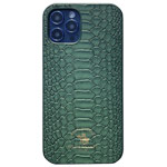 Чехол Santa Barbara Knight для Apple iPhone 12 pro max (темно-зеленый, кожаный)