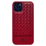 Чехол Santa Barbara Ravel для Apple iPhone 12 pro max (красный, кожаный)