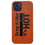 Чехол Santa Barbara Tempa для Apple iPhone 12/12 pro (оранжевый, кожаный)