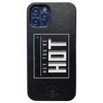 Чехол Santa Barbara Tempa для Apple iPhone 12/12 pro (черный, кожаный)