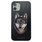 Чехол Santa Barbara Savanna для Apple iPhone 12 mini (Wolf, кожаный)