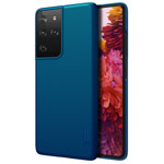 Чехол Nillkin Hard case для Samsung Galaxy S21 ultra (синий, пластиковый)
