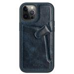Чехол Nillkin Aoge case для Apple iPhone 12 pro max (темно-синий, кожаный)