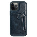 Чехол Nillkin Aoge case для Apple iPhone 12/12 pro (темно-синий, кожаный)