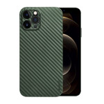 Чехол memumi Slim Carbon case для Apple iPhone 12 pro max (зеленый, пластиковый)