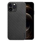 Чехол memumi Slim Carbon case для Apple iPhone 12 pro max (черный, пластиковый)