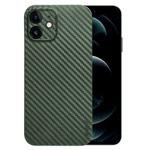 Чехол memumi Slim Carbon case для Apple iPhone 12 (зеленый, пластиковый)