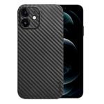 Чехол memumi Slim Carbon case для Apple iPhone 12 (черный, пластиковый)