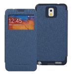 Чехол Mercury Goospery WOW Bumper View для Samsung Galaxy Note 3 N9000 (темно-синий, кожаный)