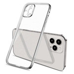 Чехол Coblue Soft Plating Case для Apple iPhone 12 pro max (серебристый, гелевый)