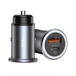 Зарядное устройство Totu Car Fast Charger DCCD-020 универсальное (автомобильное, QC 4.0, PD, темно-серое)
