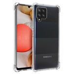 Чехол Yotrix Shockproof TPU для Samsung Galaxy A12 (прозрачный, гелевый)