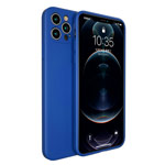 Чехол Yotrix LiquidSilicone Pro для Apple iPhone 12 pro max (синий, гелевый)