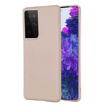 Чехол Yotrix LiquidSilicone для Samsung Galaxy S21 ultra (пудра, гелевый)