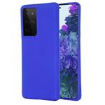 Чехол Yotrix LiquidSilicone для Samsung Galaxy S21 ultra (синий, гелевый)
