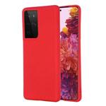 Чехол Yotrix LiquidSilicone для Samsung Galaxy S21 ultra (красный, гелевый)