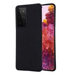 Чехол Yotrix LiquidSilicone для Samsung Galaxy S21 ultra (черный, гелевый)